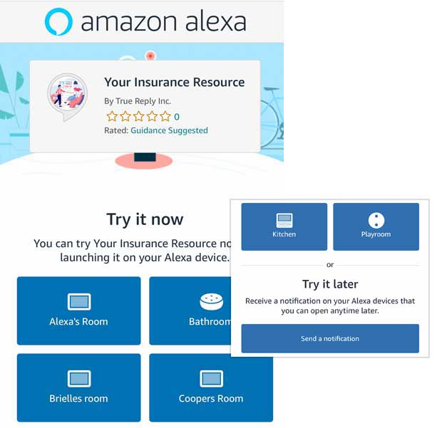 Amazon Quick Links launch page for Alexa Skills Amazon Voice Apps