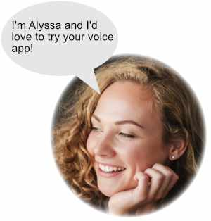 Alyssa-User-experiencing-voice-applications-powered-by-True-Reply-as-Alexa-Skill-and-Google-Action